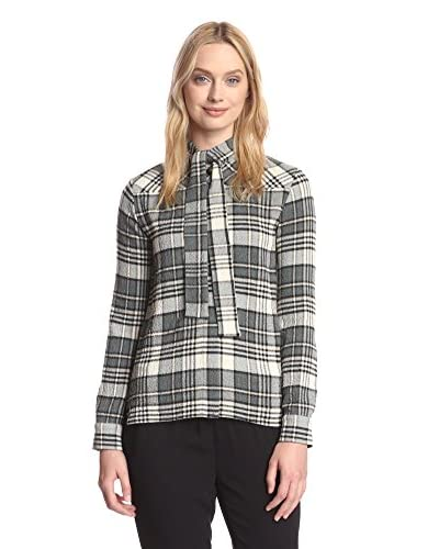 See by Chloé Women's Plaid Scarf-Tie Shirt