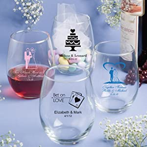 Personalized 15 Ounce Stemless Wine Glasses F3423S Quantity of 100
