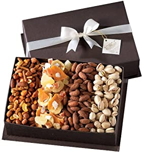 Gourmet Fruit and Nut Gift Basket - A Valentine's Day Gift Idea by Broadway Basketeers