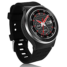 GearBest ZGPAX S99 Bluetooth 3G TPU Band Smartwatch with Pedometer Heart Rate for Android Support Sim-card (Black-1)
