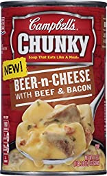 Campbell\'s Chunky Soup, Beer-n-Cheese with Beef & Bacon, 18.8 Ounce (Pack of 12)