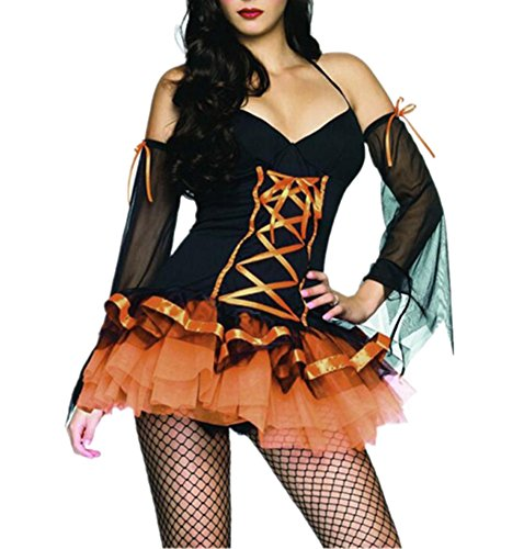 Allbebe Cosplay Halloween Witch Costume Party Dress Role-playing Game Costume