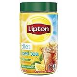 Lipton Black Iced Tea Mix, Diet Decaffeinated Lemon 10 qt (Pack of 4)