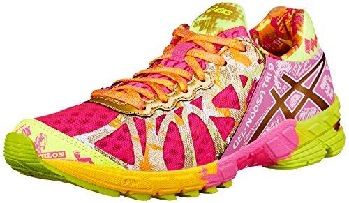 ASICS Women's Gel-Noosa Tri 9 GR Running Shoe,Hot Pink/Gold/Gold Ribbon,8.5 M US