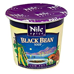 Nile Spice Black Bean Soup, Low Fat, 1.9-Ounce Cups (Pack of 12) from Nile Spice
