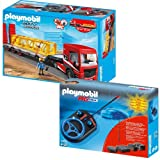 PLAYMOBIL® City Action 2-part Set 5467 4856 Heavy Duty Flatbed Trailer + RC Module Set Plus