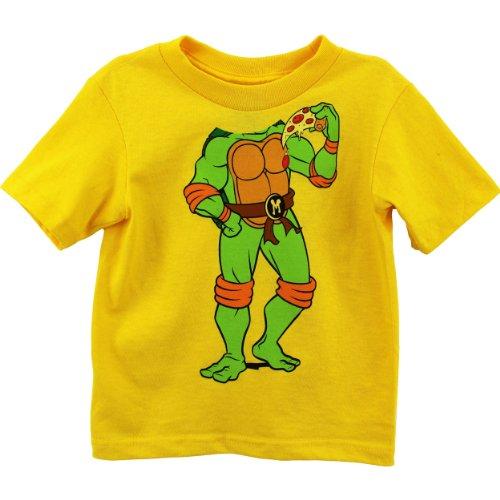 Nickelodeon Little Boys' Ninja Turtles Headless Toddler T-Shirt, Yellow, 2T (Yellow Ninja Turtle Shirt compare prices)