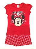 New Kids Girls Childrens Official Disney Minnie Mouse Micky Mouse Clubhouse Short Pyjamas Pj's Set Size 4-5 Years
