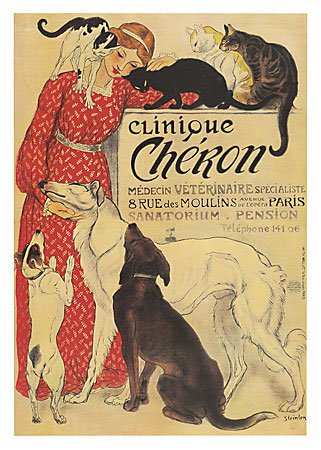 Clinique Cheron Art Poster by Theophile Alexandre SteinlenB0000E1P87