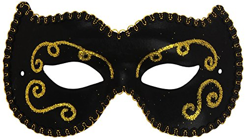 Persian Black and Gold Eye Mask - 1