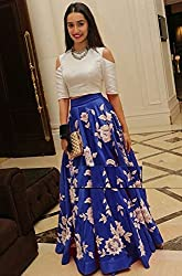 Shree Ganesh Women's Designer Multi-Coloured Silk Semi-Stitched Lahenga Choli [L42arohi blue_Multi-Coloured]