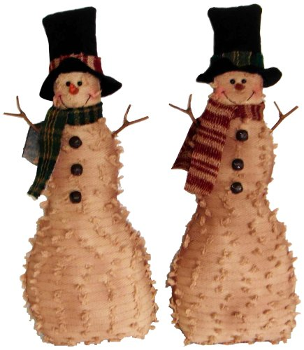 Craft Outlet Fabric Snowman Figurine Set, 20-Inch
