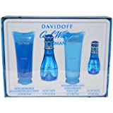 Davidoff Cool Water for Women Gift Set (Tamaño: 4 Pc Set)