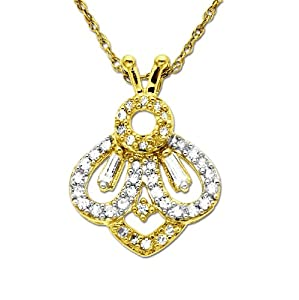 XPY 14k Yellow Gold Diamond Bumble Bee Pendant (.19 cttw)