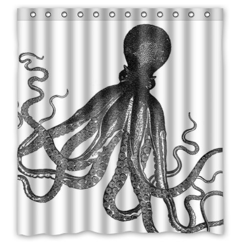 Octopus Steampunk Ocean Shower Curtain