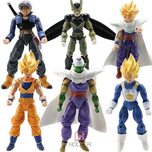 6pcs Anime Action Figure DBZ Toys Goku Piccolo Set (Dbz Figure Lot compare prices)