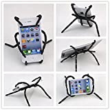 ANGELANGELA 3222641 Universal Multi-Function Portable Spider Flexible Grip Holder for Smartphones and Tablets, Black