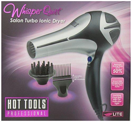 Hot Tools Ht7000Q Whisper Quiet Ionic Dryer, Black/Silver