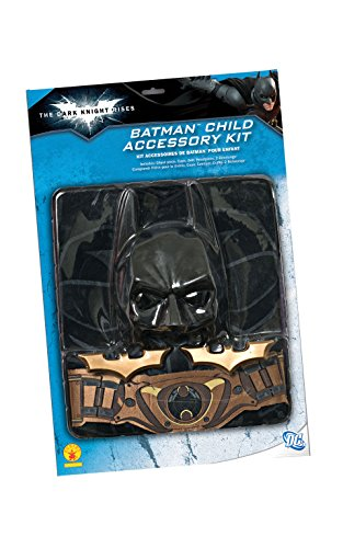 Kit Batman bambino: include mantello, copritorace con stampa, cintura, maschera e 2 BATarangs
