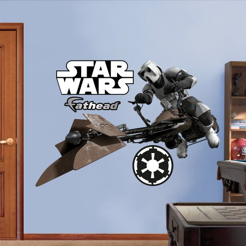 FATHEAD Scout Trooper Speeder Bike Graphic Wall Décor