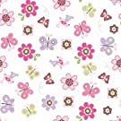 Summer Infant SwaddleMe  Adjustable Infant Wrap, Flutter Flowers, Small/Medium