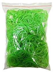 Flexi Rubber Bands Green - 1.5 inch Diameter - 400 pcs