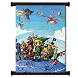 """Legend of Zelda Wind Waker Game Fabric Wall Scroll Poster (16""""x21"""") Inches"""
