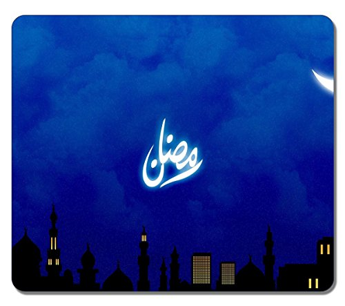 Customized 25472 Ramadan Holiday Art Large Mousepad Natural Eco Rubber Mousepad Design High Quality Durable Mouse Mat Computer Accessories Big Gaming Mouse Pad