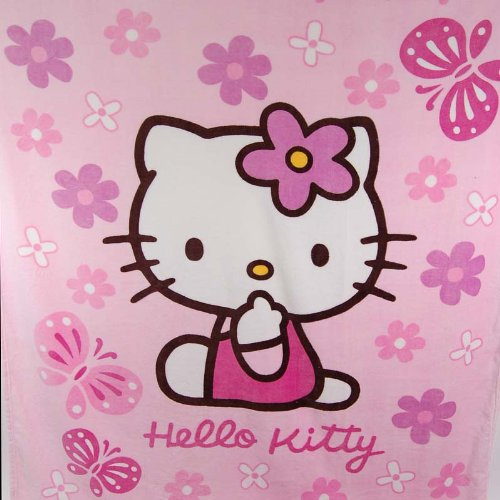 Hello Kitty Plush Bedding Throw Blanket Quilt Pink