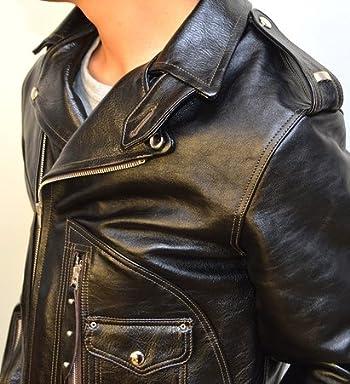 トイズマッコイ TOYS McCOY BECK ベック 333 ダブル ライダース ジャケット 馬革 TMJ1537 ブラック色