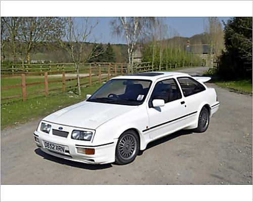 Photographic Print of Ford Sierra RS Cosworth 1987 White