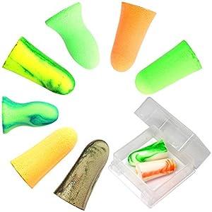 MOLDEX 使い捨て耳栓 コード無し お試し8種エコパック ケース付 (Camoplugs Sparkplugs Goin\'green Meteors Softies Mellows Pura-fit 各1ペア)