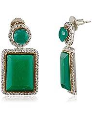 Spirit Of Iris Victorian Drop Earrings For Women (Silver) (VE4022)