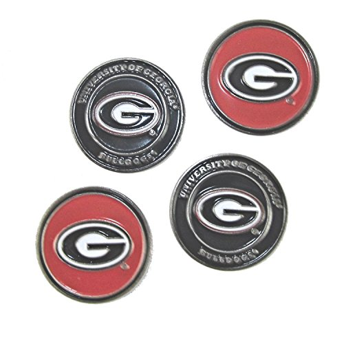 Georgia Bulldogs Double Sided Golf Ball Marker (Set of Four) (Ga Bulldogs Belt compare prices)