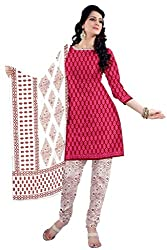 DARPAN TEXTILES Ethnicwear Women's Dress Material PINK Free Size