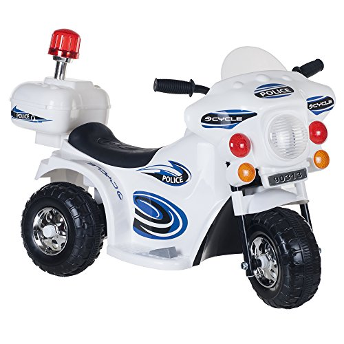 Lil' Rider Super Sport Three Wheeled Motorcycle Ride-On – White