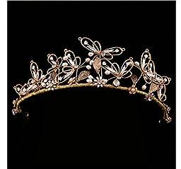 primerry (Baroque butterflies)Rhinestones bridal headdress tiara crown