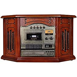 Grace Digital Victoria Tunewriter III GDI-TW3USB CD/Cassette/AM/FM/Turntable Stereo System w/USB Archiver (Paprika Wood) consumer electronics
