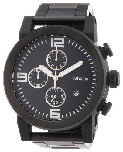 Nixon Men's Quartz Watch Ride SS A347001-00 with Metal Strap