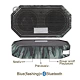 Portable Bluetooth Speakers, Fuleadture Wireless CSR 4.0 Bluetooth IP66 Waterproof Mini Outdoor & Shower Speaker with Mic for iPhone, Samsung, iPad, PC and All Audio Devices - Camouflage