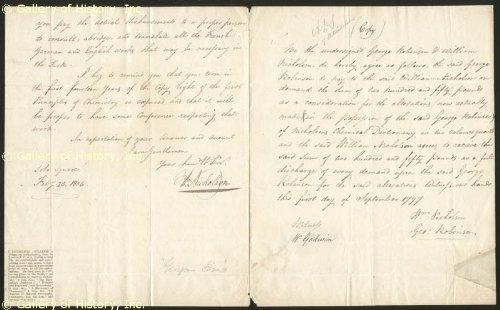 William Nicholson - Autograph Letter Signed 02/20/1804