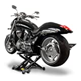 Motorcycle lift ConStands Mid-Lift black for Harley Davidson Night Train (FXSTB), Night-Rod/ Special (VRSCDX)/(VRSCD), Road King (FLHR/I), Road King Classic/ Custom (FLHRC/I)/(FLHRSI)