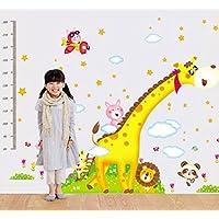 UberLyfe Giraffe and Friends Height Chart cum Wall Sticker - 2 Sheet (Wall Covering Area: 160cm x 230cm) - WS-000909