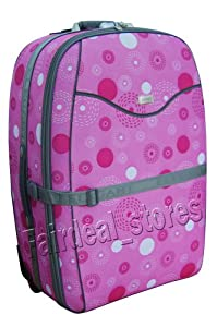 "31"" (110 Litres) Wheeled Trolley Suitcase Strong Luggage Expandable Pink Printed Amazing Offer from Elegant"