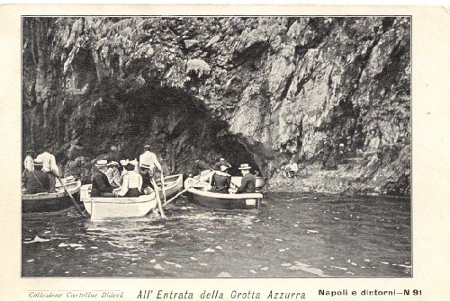 1900 Vintage Postcard - Entrance To The Blue Grotto - Capri Italy