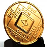 2 Year NA Gold Plate Medallion / Coin (Narcotics Anonymous)