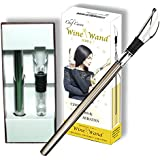 Chef Caron Wine WandTM - Wine Pourer, Wine Aerator, Wine Chiller Stick - 3 in 1 Stainless Steel & Acrylic