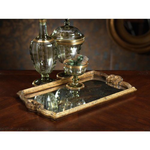 Mirrored Wood Tray front-1031993