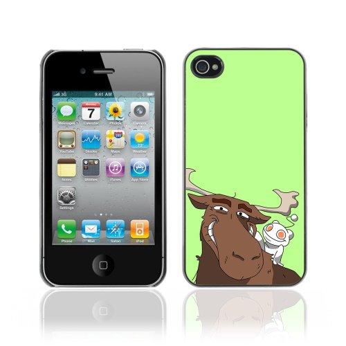 Designer Depo Hard Protection Case for Apple iPhone 4 4S / Reddit Alien & Moose