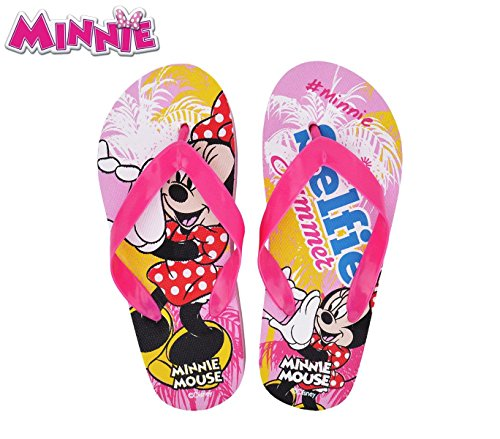 WD16983 Ciabatte infradito in gomma per bambina Minnie Mouse. MWS (29/30)